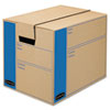 Bankers Box SmoothMove Prime Split Hinge Lid Moving Boxes, 12l x 12w x 16h, Kraft, 10/Carton