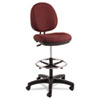 Alera Interval Series Swivel Task Stool, 100% Acrylic, Tone-On-Tone Pattern, Burgundy