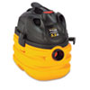 Heavy-Duty Portable Wet/Dry Vacuum, 5-Gallon Capacity, 17 lbs, Black/Yellow