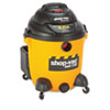 Economical Wet/Dry Vacuum, 12 Gallon Capacity, 23 lbs, Black/Yellow