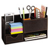 Safco® Leather Look Desktop Supply Organizer, 11 1/4 x 5 x 6, Chocolate