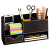 Safco® Leather Look Desktop Supply Organizer, 11 1/4 x 5 x 6, Black