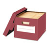 Stor/File Decorative Storage Box, Letter/Legal, Red, 4/Carton