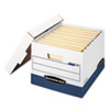 Stor/File Max Lock Storage Box, Letter/Legal, White/Blue, 12/Carton