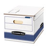 Stor/File Storage Box, Letter/Lgl, 12w x 15d x 10h, White/Blue, 12/Carton