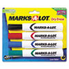 Marks-A-Lot Desk Style Dry Erase Markers, Chisel Tip, Assorted, 4/Set