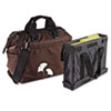 Overnight Tote Bag, 1,680-Denier Ballistic Nylon, 9 x 16-1/2 x 14, Brown