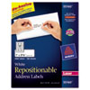 Avery Re-hesive Laser Labels, 1 x 2 5/8, White, 3000/Pack