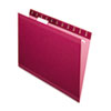 Pendaflex Reinforced Hanging Folders, Letter, Burgundy, 25/Box