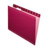 Pendaflex Reinforced Hanging Folders, 1/5 Tab, Letter, Burgundy, 25/Box