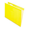 Pendaflex Reinforced Hanging File Folders, Letter, Yellow, 25/Box