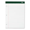 Double Docket Writing Pad, Extra Stiff Back, Legal Rule, Ltr, WE, 100-Sheet