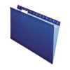 Pendaflex Reinforced Hanging Folders, 1/5 Tab, Legal, Navy, 25/Box