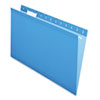 Pendaflex Reinforced Hanging Folders, 1/5 Tab, Legal, Blue, 25/Box