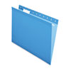 Pendaflex Reinforced Hanging File Folders, Letter, Blue, 25/Box