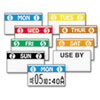 FreshMarx Freezx Color Coded Labels, Sunday, White, 2500 Labels/Roll