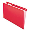 Pendaflex Reinforced Hanging Folders 1/5 Tab, Legal, Red, 25/Box