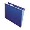 Pendaflex Reinforced Hanging Folders, 1/5 Tab, Letter, Navy, 25/Box