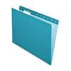 Pendaflex Reinforced Hanging Folders, 1/5 Tab, Letter, Teal, 25/Box