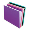 Pendaflex Reinforced Hanging Folders, Letter, Pastel Colors, 25/Box