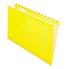 Pendaflex Reinforced Hanging Folders, 1/5 Tab, Legal, Yellow, 25/Box