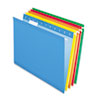Pendaflex Reinforced Hanging Folders, Letter, Yellow, Red, Orange, Blue, Green, 25/Box