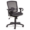 Alera Etros Series Suspension Mesh Mid-Back Synchro Tilt Chair, Mesh Back/Seat, Black