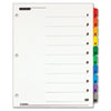 Cardinal Traditional OneStep Index System, 10-Tab, 1-10, Letter, Assorted, 10/Set