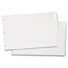 Write 'n Erase Tabloid Index Dividers, 5-Tab, White