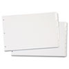 Write 'n Erase Tabloid Index Dividers, 8-Tab, White