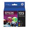 Epson T125520 (125) Ink, Cyan, Magenta, Yellow 3/Pk