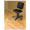 RecyClear Chairmats for Hard Floors, 46 x 60, No Lip, Clear