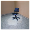 RecyClear Chairmats for Carpets, 36 x 48, 20 x 12 Lip, Clear