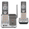 AT&T CL81201 DECT 6.0 Cordless Phone System, 2 Handsets