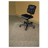 RecyClear Chairmats for Carpets, 46 x 60, No Lip, Clear
