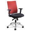 Safco Tez Series Manager Synchro-Tilt Task Chair, Red Mesh Back, Black Fabric Seat