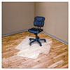 RecyClear Chairmats for Hard Floors, 45 x 53, 25 x 12 Lip, Clear