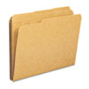 Kraft File Folders, 1/3 Cut, Reinforced Top Tab, Letter, Kraft, 100/Box