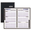 Recycled Weekly Appointment Book, Black, 4 7/8&quot; x 8&quot;, 2013