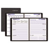 "Recycled Executive Weekly/Monthly Planner, Black, 6 7/8"" x 8 3/4"", 2014"