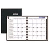 Recycled Monthly Planner, Black, 6 7/8&quot; x 8 3/4&quot;, 2013