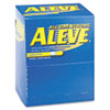 Aleve Pain Reliever Tablets, 1 per Pack, 50 Packs/Box