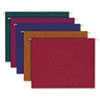 Pendaflex Earthwise Recycled Paper Color Hanging Folders, Letter, Asstorted Jewel Colors, 20/Box