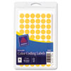 Avery 05062 Removable Self-Adhesive Color-Coding Labels, 1/2in dia, Neon Orange, 840/Pack AVE05062 AVE 05062