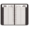 Recycled Daily Appointment Book, Black, 4 7/8&quot; x 8&quot;, 2013
