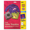 Avery Dark Fabric Transfers for Inkjet Printers, 8 1/2 x 11, White, 5/Pack
