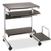 Eastwinds Portrait Mobile PC Workstation, 36½w x 19¼d x 31h, Anthracite