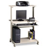 Eastwinds Multimedia Workstation, 36¾w x 21¼d x 50h, Gray/Gray