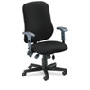 Mayline Comfort Series Contoured Support Chair, Acrylic/Poly Blend Fabric, Black