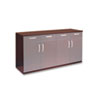 Wood Veneer Buffet Credenza Cabinet, 72w x 22d x 36h, Mahogany